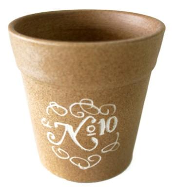Maceta de cerámica de diseño para postre de restaurante Taberna No 10 en Córdoba España por Torres Ferreras
