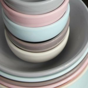 Ceramics Bowls pastel colours by Torres Ferreras La Rambla for Kate & Plate Belgium