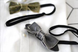 Bowtery.Pajaritas de cerámica hechas y cosidas a mano en La Rambla. Handmade ceramic bow ties in Spain